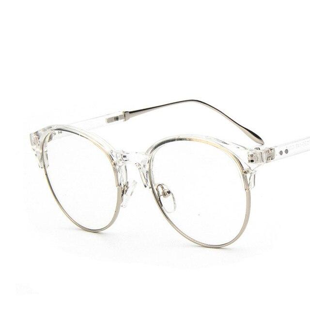 2017 diskon merek desain baru Berkualitas Tinggi bingkai Kacamata Logam  setengah bingkai untuk pria wanita gafas fe7fac4baa