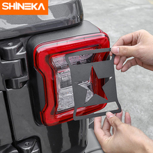 SHINEKA Metal Lamp Hoods for Jeep Wrangler JL Rear Tail Light Cover Decoration Guard 2018 Accessories
