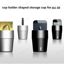 glove box original cup holder cell phone holder card storage box debris storage device cup modification supplies for Au-di