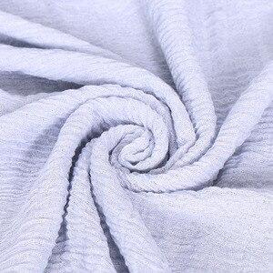 Image 5 - LMLAVEN, мерцающие женские хлопковые шарфы, большой размер