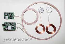 High power 50W remote (> 50mm) wireless charging module scheme; PCBA resonant coupling; high efficiency