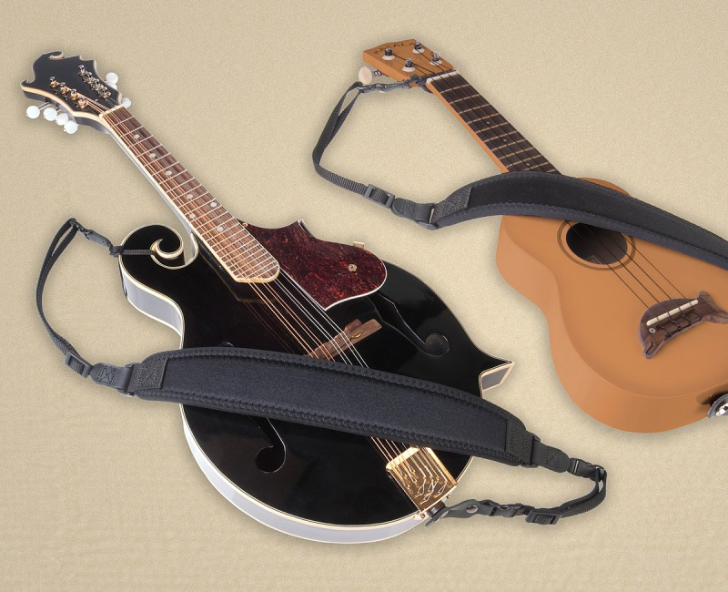Neotech Mandolin / Ukulele Strap - Tailored Neoprene Strap with Weight Reduction System tailored