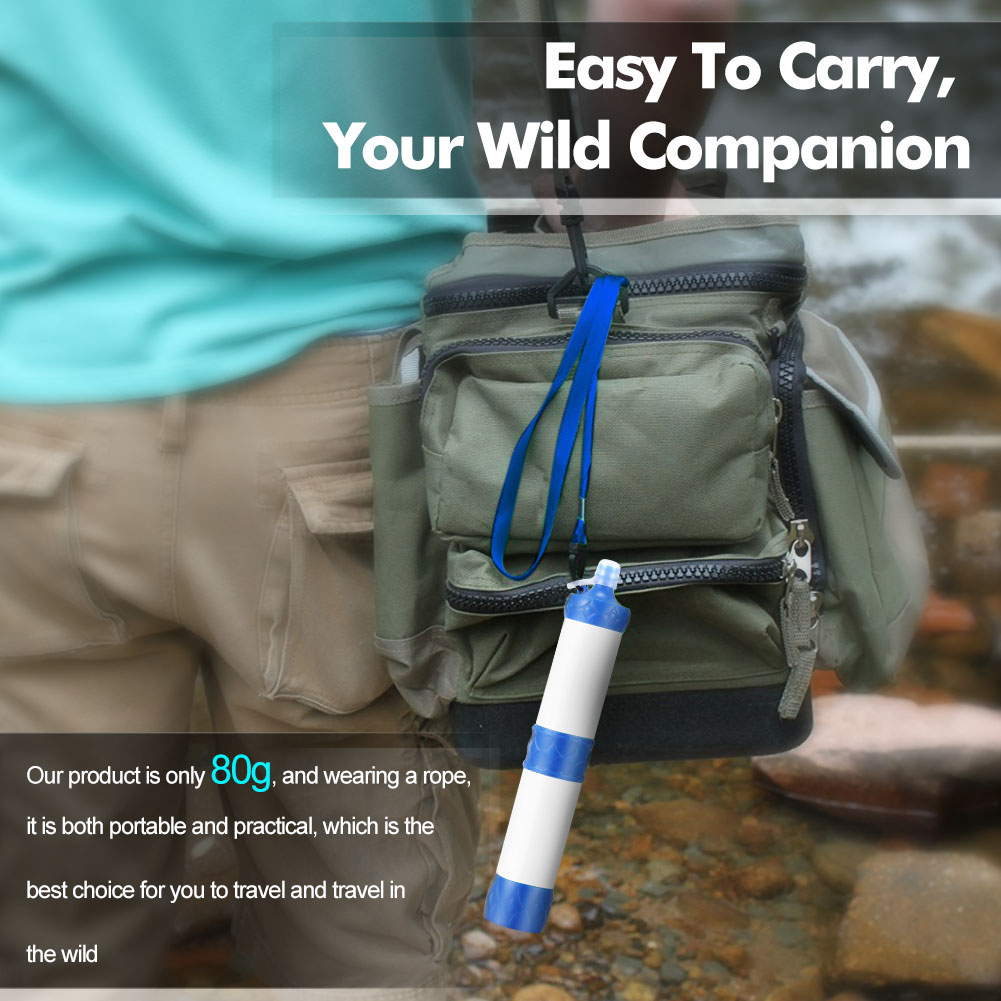 Outdoor Portable Camping Hiking Pressure Water Filter Purifier Wild Drinking Water Emergency Survival Kit BHD2Outdoor Portable Camping Hiking Pressure Water Filter Purifier Wild Drinking Water Emergency Survival Kit BHD2
