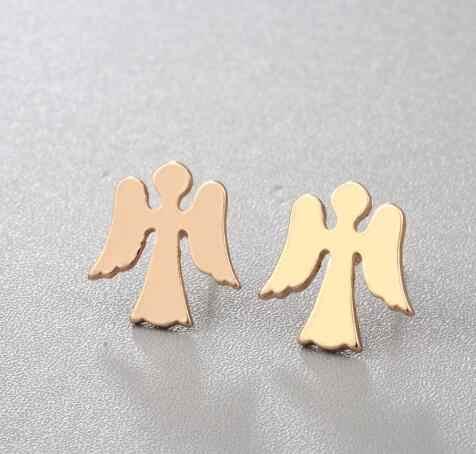 03d20f9f66db3 2018 New Stud Earrings For Women Hamsa Hand Starfish Angle Tree Cute Design  Silver Wholesale Jewelry Cheap Earring Gift