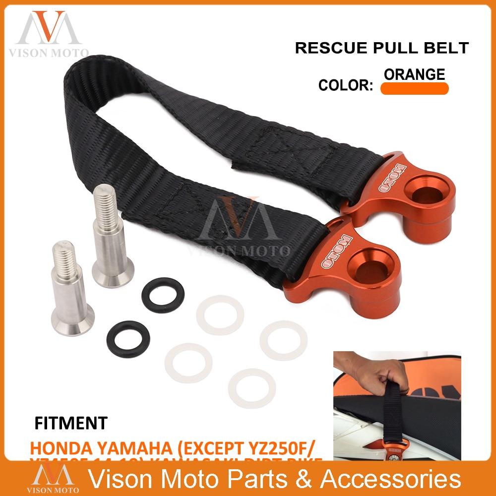 Universal Rear 325MM Rescue Strap Pull Safety Belt For Honda Yamaha Kawasaki CRF XR YZ WR WRF TTR KXF KLX CRF250 CRF450 YZ250 new crf250 crf450 after motocross fender masonry for honda