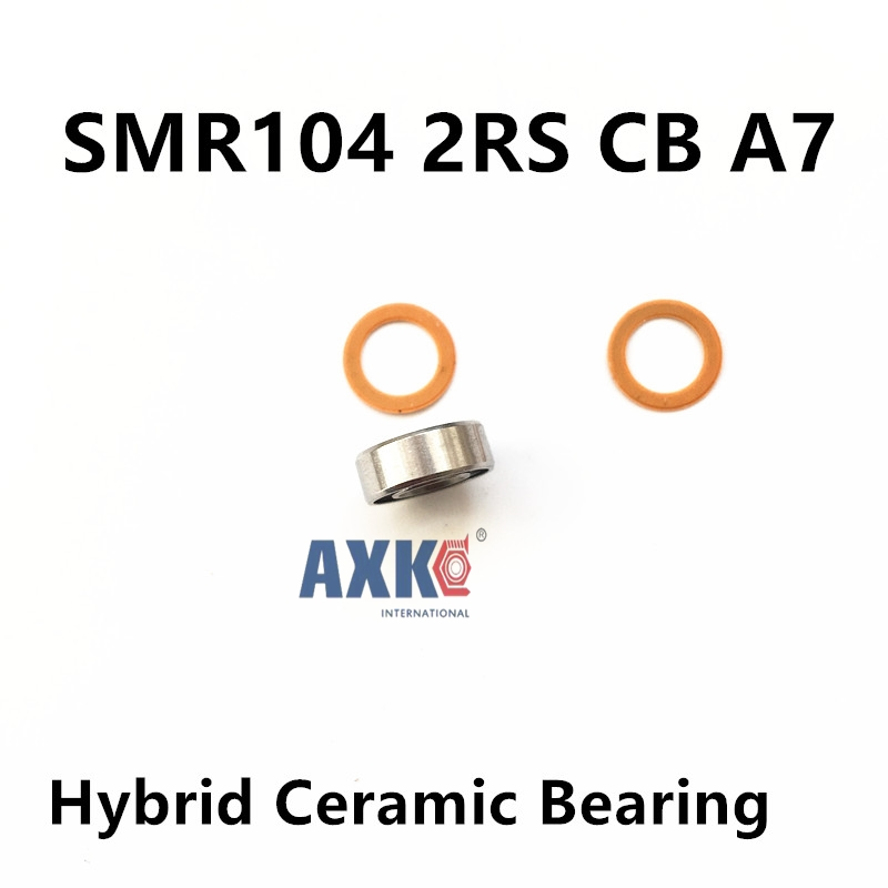 Free Shipping SMR104 2RS CB  4x10x4 ceramic bearings Stainless steel hybrid ceramic ball bearing stainless steel hybrid ceramic ball bearing smr84 2rs cb abec7 4x8x3mm