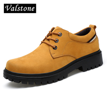 Valstone Hand made Genuine leather Boots Men Low cut Ankle Work Boots Male Hot style classical retro shoes rubber bottom size 45