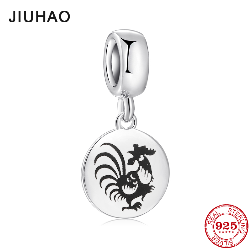 47083846b Fashion 925 Sterling Silver fine 12 Chinese Zodiac rooster Pendants beads  Fit Original Pandora Charm Bracelet Jewelry making-in Charms from Jewelry  ...