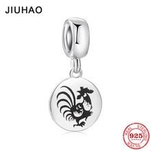 51ce73df7 Fashion 925 Sterling Silver fine 12 Chinese Zodiac rooster Pendants beads  Fit Original Pandora Charm Bracelet Jewelry making