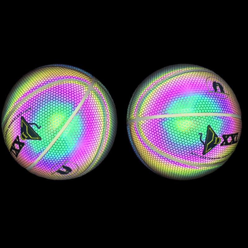 New Luminous Basketball Night Game Street PU Glowing Rainbow Light Children Training Tool XD88