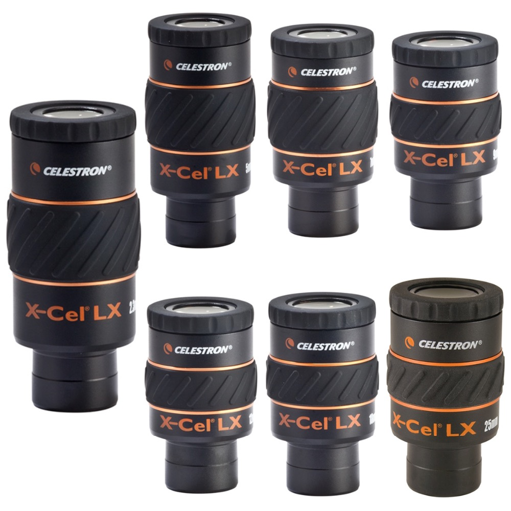 Celestron X-CEL LX Oculaires Grand angle Astronomique Télescope Oculaire Longues-vues Accessoires 2.3/5/7/9 /12/18/25mm