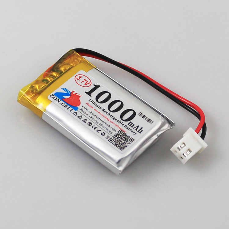 W 1000 mAh 852540 3.7 V litowo polimerowa bateria 802540 skanowania kod przyrząd głośnik jazdy urządzenia akumulator litowo-jonowy