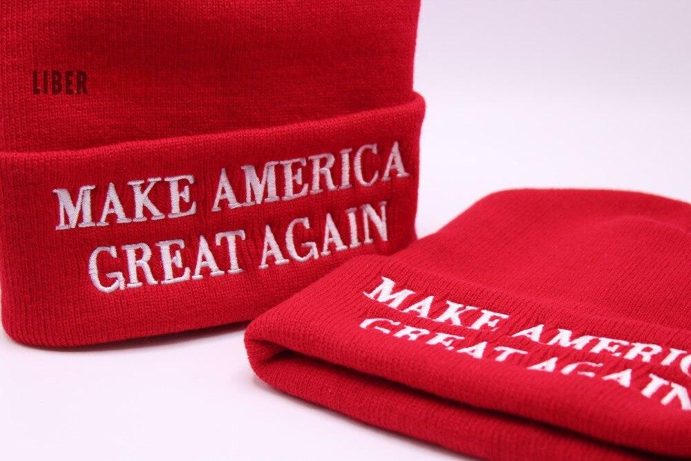 32a77d0adb5 DETAILS. MAGA MAKE AMERICA GREAT AGAIN WINTER BEANIE HAT riding skull cap donald  trump