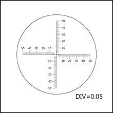 24mm Microscope Micrometer Microscope Eyepiece Lens Micrometer Calibration Slide DIV=0.05 Dust Dispersion Calculate Area