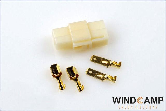 10pcs T typye Power connector for YAESU ICOM KENWOOD Radio Femail+ male