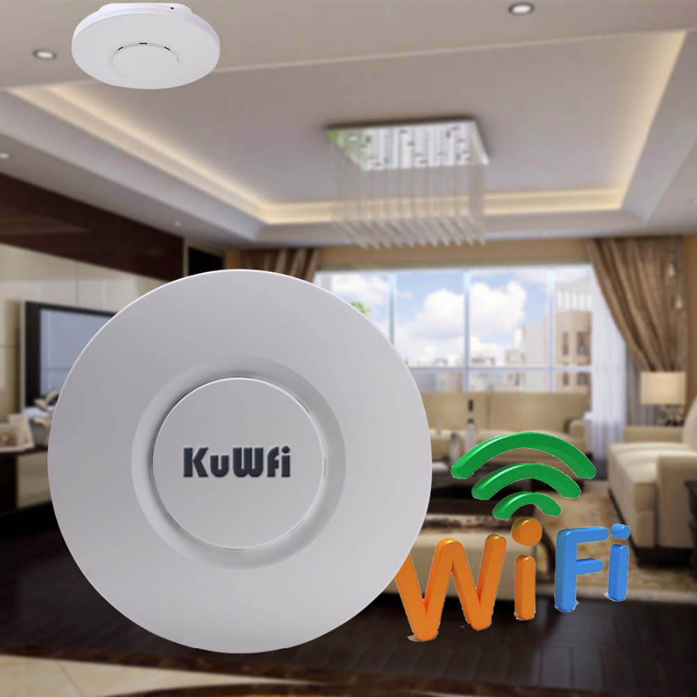 UK Shipping 300Mbps Wireless Ceiling AP Wifi Router 2.4Ghz Indoor Wireless Repeater&AP Router 24V POE Adapter Hotel Restaurant