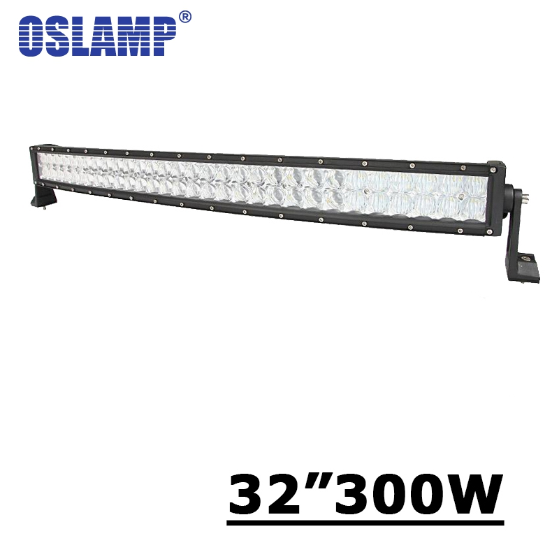 Oslamp 32 inch 300W Curved LED Light Bar 5D Fit Pickup Truck SUV 4X4 4WD ATV 12V 24V Offroad Driving 32