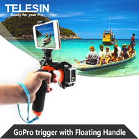 2016 New Arrival TELESIN Floating Bobber Grip Handle Ploe With Pistol Trigger And Phone Clip Gadgets