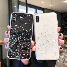 RAXFLY Glitter Bling Star Case For iPhone 7 8 6S 6 Plus XR X XS Max Soft Tpu Phone Luxury Shining Protective Coque Fundas