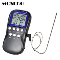 Digital BBQ Thermometer Food Probe Meat Kitchen Oven Thermometer Cooking Tools Temperature Sensor With Timer And