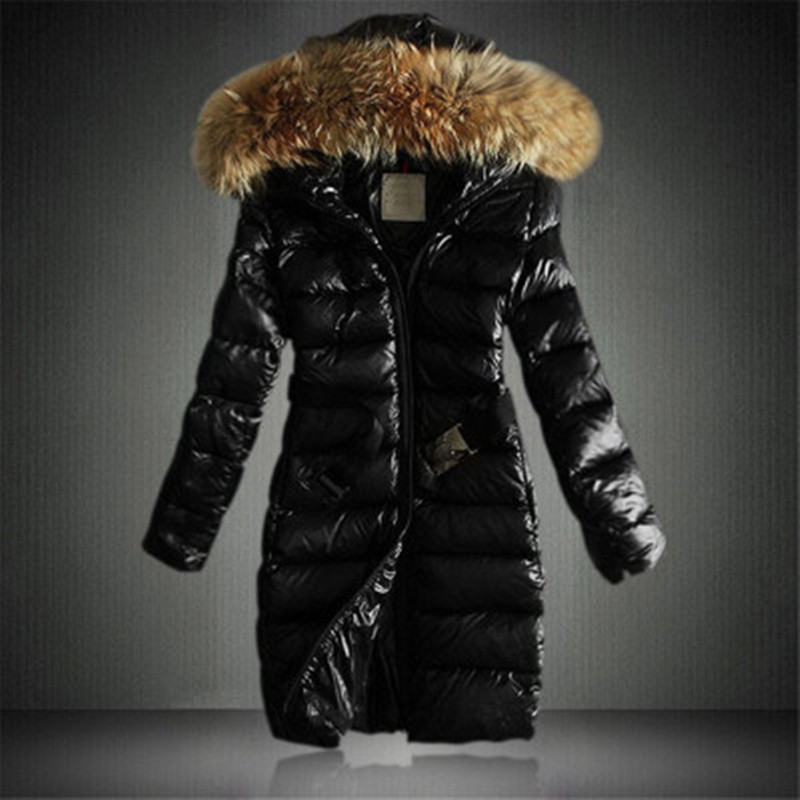 Wholesale Winter Mother Clothing Long Style Down Coats Black Brown Navy Ladies Goose Down Jackets Warm Parka With Fox Fur Hooded new winter baby girls clothes white duck down parka warm goose down jackets for kid warm long coats big fur hooded for children