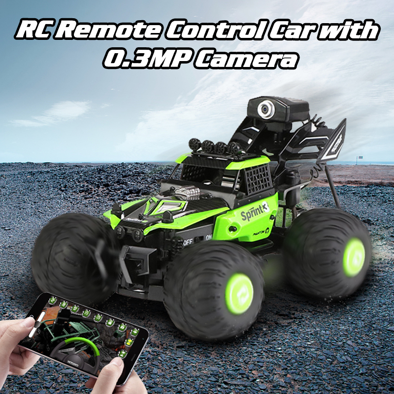 1 28 RC Remote Control Car with 0 3MP Camera Climbing Off Road Vehicle High Speed