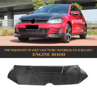 Carbon fiber Front Engine Hood bonnet Trunk Cover for Volkswagen VW Golf 7 VII MK7 Hatchback GTI R 2014 2017 R style
