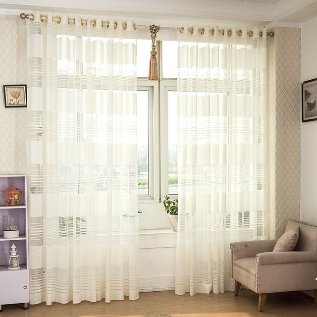 Top Finel HOT Modern White Tulle For Window Curtain Sheer Curtains Living Room The Bedroom