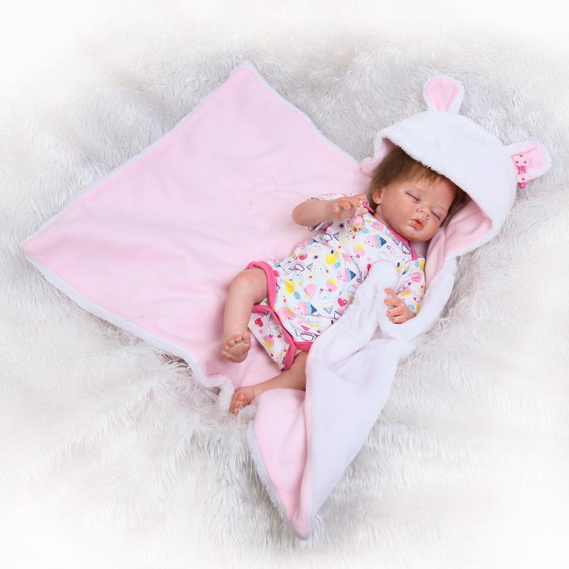 Pursue 22/55 cm New Real Looking Half Silicone Body Reborn Baby Doll for Children Girls Gift Doll Bath Toys bonecas bebe reborn megir clock men relogio masculino top brand luxury watch men leather chronograph quartz watches erkek kol saati for male