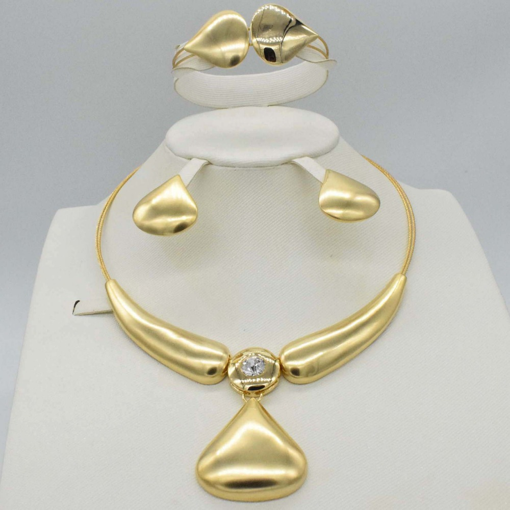 Fashion jewelry set African Nigeria Dubai gold-color African bead jewelry wedding jewelry set african beads jewelry sets