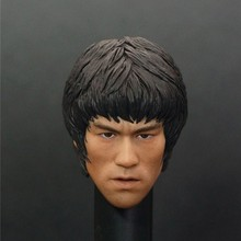 Super Male Star Head Sculpts Model Toys 1/6 Bruce Lee Exquisite Head Carving For 12″ Action Figure Body   Kids Toys