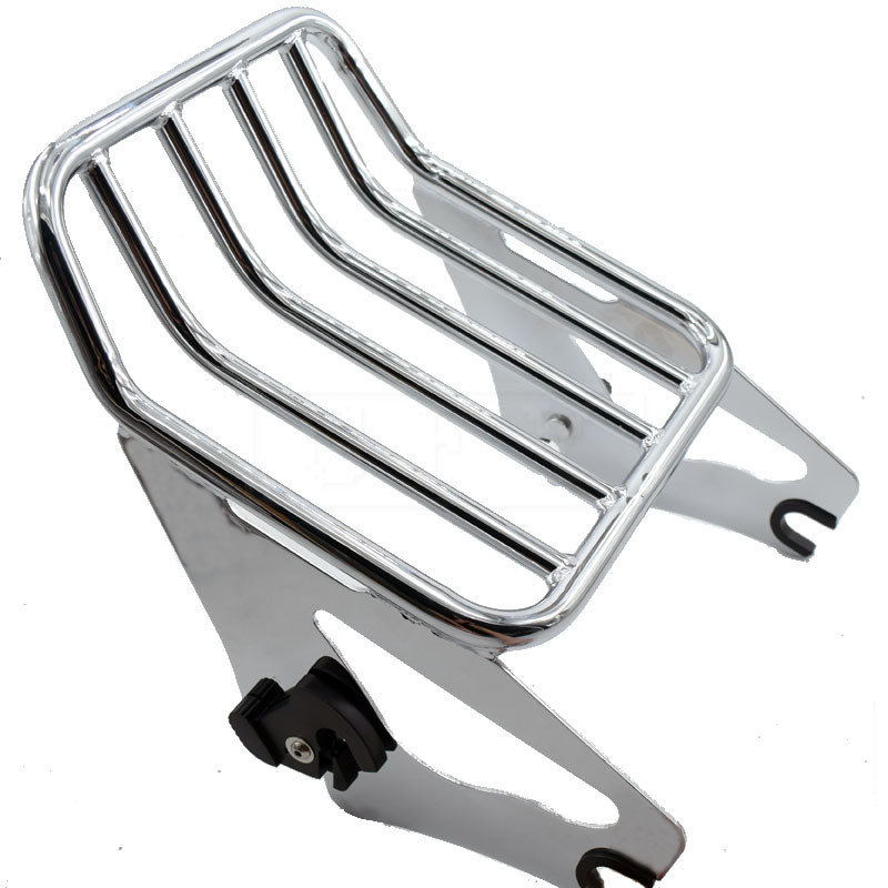 Motorcycle Chrome Luggage Rack For Harley Touring Road King Street Glide Road Glide FLHR FLHX FLTR FLHTK 2009 2010 2011 - 2017 partol black car roof rack cross bars roof luggage carrier cargo boxes bike rack 45kg 100lbs for honda pilot 2013 2014 2015