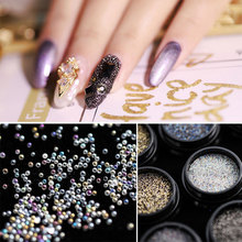 HNUIX 1 pieces Nail Art Caviar beads rhinestones for nails nails Micro Pixie crystal nail stones 3D charms Nail Art decoration 2018 new all sizes 1440pcs crystal chaton nail art pixie rhinestone micro pixie manicure decoration tiny mini pixie rhinestones