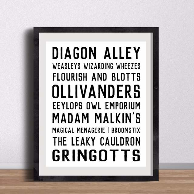 Online Shop Canvas Art Poster Harry Potter Diagon Alley Shops Street