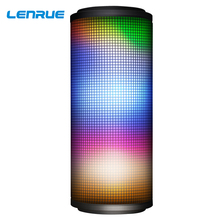 LED Light Bluetooth Speaker Portable Outdoor Wireless Speaker Colorful Subwoofer Waterproof Player Stereo Bass Loudspeaker M4 kmashi new led flame lamp night light wireless speaker touch soft light iphone android bluetooth 3d bass music player