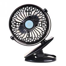 Portable Clip Fan Rechargeable Battery USB Charging Fans for Baby Stroller Car Camping Desk Black BabyStroller Accessories