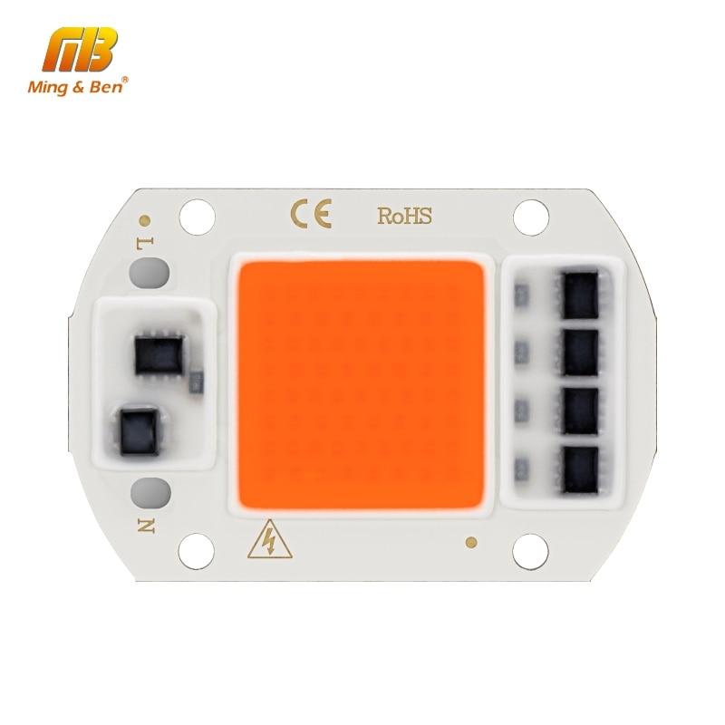 Светодиодный фито-светильник с чипом COB, полный спектр, AC220V, 10 Вт, 20 Вт, 30 Вт, 50 Вт, для выращивания растений в помещении, рост рассады и рост цветов, Fitolamp