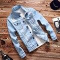 Куртка мужчины весна джинсовая пальто развивать нравственность мужская Куртка печати supreme куртки мужские одежда северная лицо