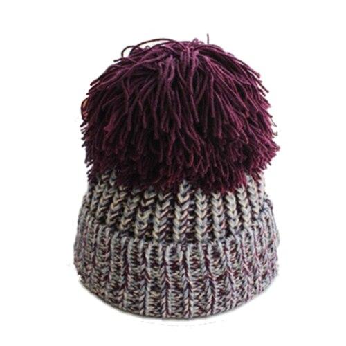 7cd3688d2a926 Sphere Gorro de Lã Outono e Inverno Feminino de grandes dimensões Grosso  Tricô grosso Linha de Orelha Quente Chapéu Do Knit