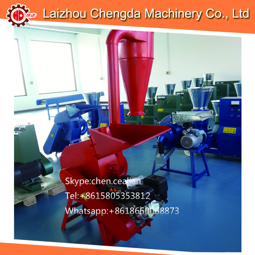 FREE SHIPPING 4kw Factory Directly Supply Cotton Straw Maize Corn Rice Hammer Mill Grinder