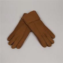 2017 kobiet rękawiczki prawdziwe skórzane zimowe rękawiczki z owczej skóry ciepłe ciepłe stylowe pełne palec rękawiczki damskie rękawiczki rękawiczki prawdziwej skóry tanie tanio QSN-110 Wełna Futro Kobiety Moda QianShanBird Nadgarstek Stałe Dla dorosłych 100 sheepskin