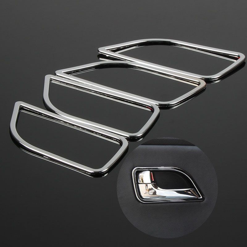4pcs set abs chrome car interior door handle decoration trim frame for kia rio k2 2011 2012 2013. Black Bedroom Furniture Sets. Home Design Ideas