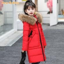 19301fcf62e -30 grados niñas ropa caliente abajo chaqueta para niña ropa de invierno  2018 espesar chaqueta de piel real de niños con capucha.