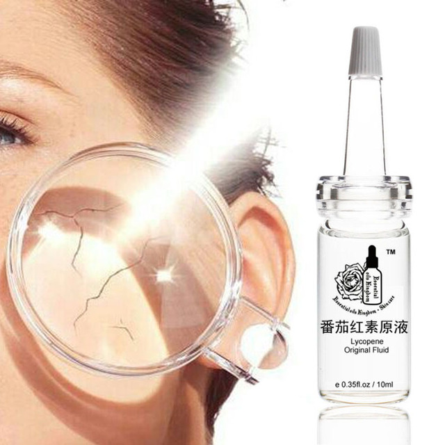 Lycopene original fluid UV resistant anti-wrinkle freckle removing hyaluronic acid moisturizing Freckle anti aging 10ml*2pcs