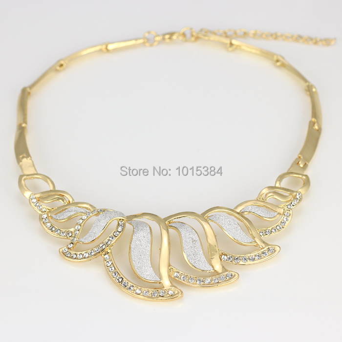 2015 Silver gold mixed new gift Dubai gold plated fashion jewelry