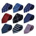 Cityraider marca negocio delgado lazos gravata corbata azul 2016 nuevo 8 cm 100% los Lazos de Seda De Los Hombres Corbatas de Boda 24 Colores B013