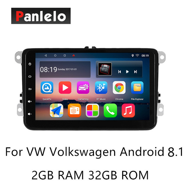 Panlelo S8 Plus  Android 8.1 Car Stereo For Volkswagen 2 Din Multimedia Player Music Video 1080P GPS Navigation Auto Radio AM/FM