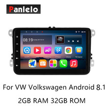 Panlelo S8 Plus For Volkswagen Android 8.1 Car Stereo 2 Din Multimedia Player Music Video 1080P GPS Navigation Auto Radio AM/FM panlelo s1 plus 2 din android car stereo 2gb ram 32gb rom car gps navigation auto radio am fm 7 inch touch screen bluetooth cam