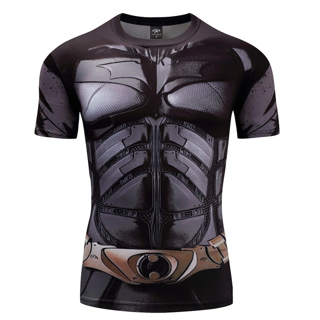 Batman T shirts Men Funny Anime Shirt Summer 2017 New Fashion Casual Short Sleeve Tops Cotton Lycra Fitness Clothing For Male