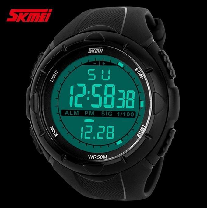 18 New Skmei Brand Men LED Digital Military Watch, 50M Dive Swim Dress Sports Watches Fashion Outdoor Wristwatches 15